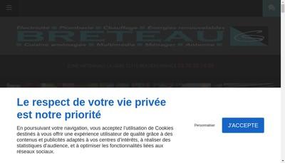 Site internet de SARL Breteau