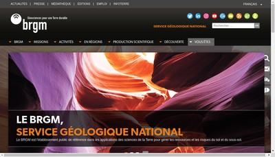 Site internet de Brgm