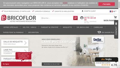 Site internet de Bricoflor