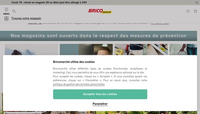 Site internet de Brico Marche