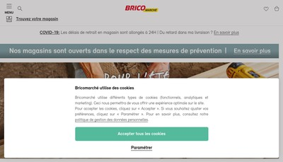 Site internet de Bricomarche