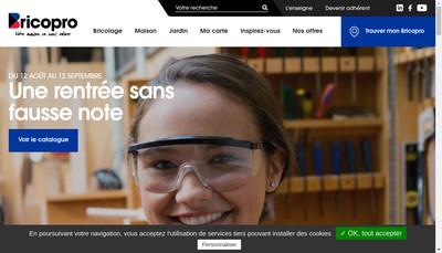 Site internet de Brico Pro Relais