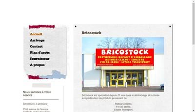 Site internet de Brico Stock