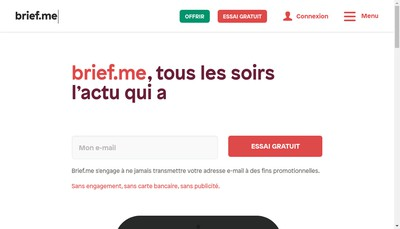 Site internet de Brief Me