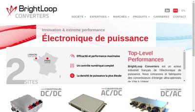 Site internet de Brightloop Converters