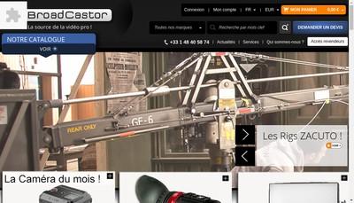 Site internet de Oocast - Broadcastor