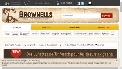 Site internet de Brownells