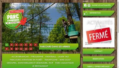 Site internet de Parc d'Aventures et de Loisirs de Brumath