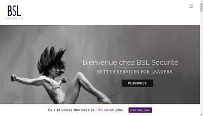 Site internet de Bsl Securite