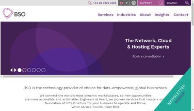 Site internet de Bso Network Solutions
