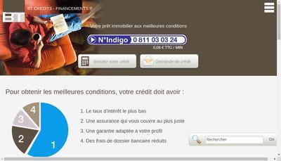 Site internet de BT Credits - Financements