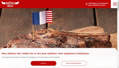 Site internet de Buffalo Grill
