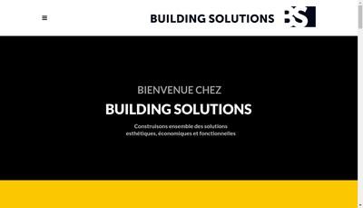 Site internet de Building Solutions
