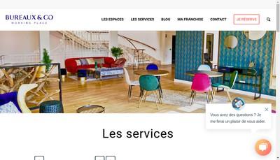 Site internet de Bureaux & Co - le Stratege