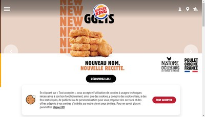 Site internet de Burger King