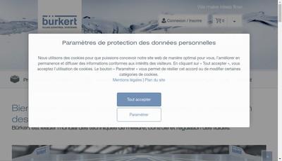 Site internet de Burkert France SAS