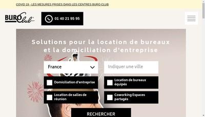 Site internet de Buro Club