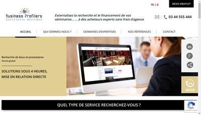 Site internet de Business Profilers