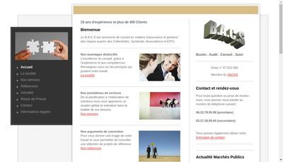 Site internet de Bustin Audit Conseil Suivi