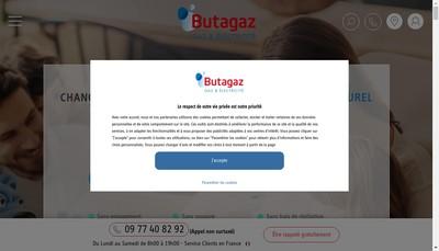 Site internet de Butagaz