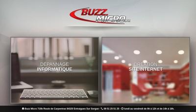 Site internet de Buzz Micro