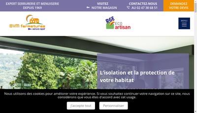 Site internet de Bvm Fermetures