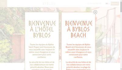 Site internet de Byblos Beach