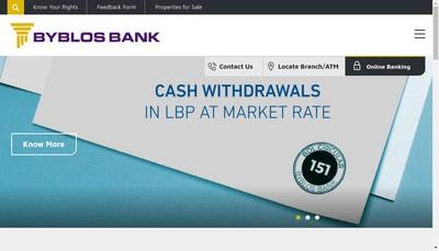 Site internet de Byblos Bank Europe SA