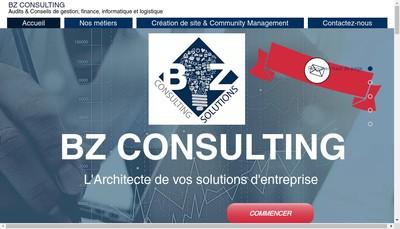 Site internet de Bz Consulting