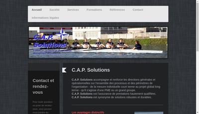 Site internet de CAP Solutions