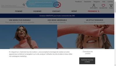 Site internet de C & a France