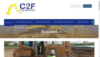Site internet de C2F Formation