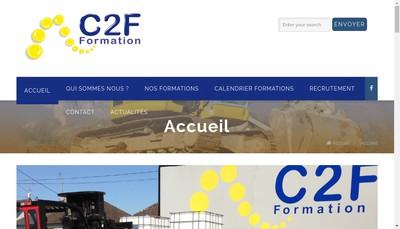Site internet de C2F Formation