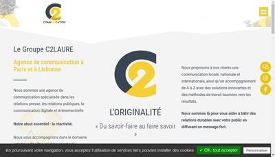 Site internet de C2Laure