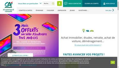 Site internet de Caisse Reg Cred Agric Mut Atlantique Ven