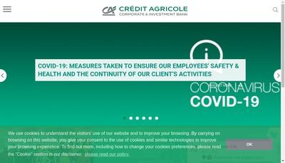 Site internet de Credit Agricole Cib Financial Solutions