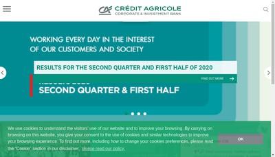 Site internet de Credit Agricole Cib Airfinance