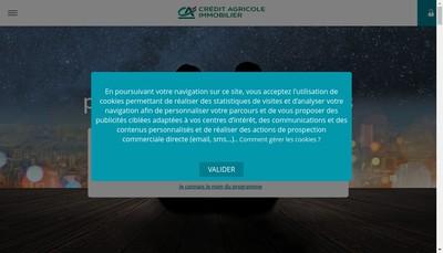 Site internet de Credit Agricole Immobilier Services