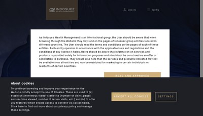 Site internet de Ca Indosuez Wealth (Group)
