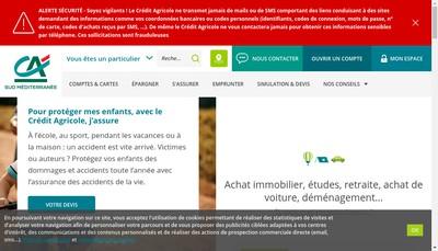 Site internet de Sudmed Roussillon