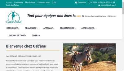 Site internet de Cab'Ane et l'Eperon d'Argent