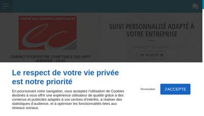 Site internet de Cabinet d'Expertise Comptable 7 Chemins
