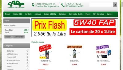 Site internet de Comptoir Automobile Briviste en Abrege CAB