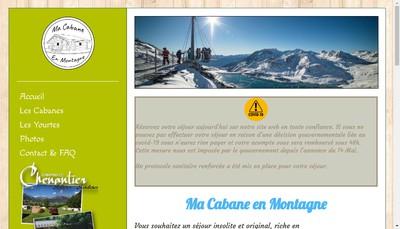 Site internet de Ma Cabane de Montagne