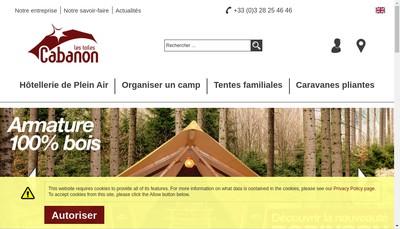 Site internet de Ditechna Cabanon