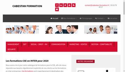 Site internet de Cabestan Formation