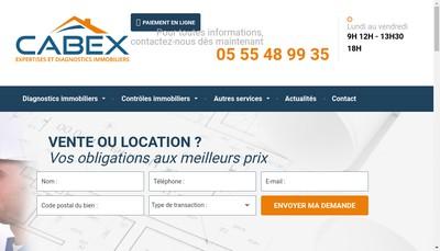 Site internet de Cabex