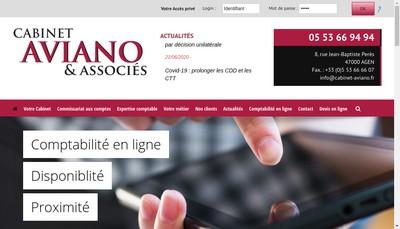 Site internet de Cabinet Aviano Developpement