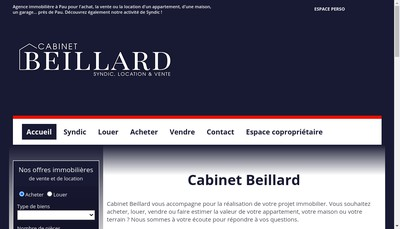 Site internet de Cabinet Beillard