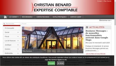 Site internet de Christian Benard Expertise Comptable